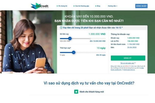 Vay tiền online nhanh 24/7 tại Oncredit